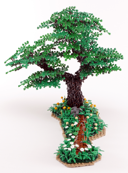 Lego Tree Tutorial - Double Trunk Hornbeam