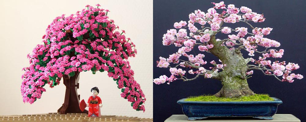Lego Bonsai Tree - Full Blossom Cherry