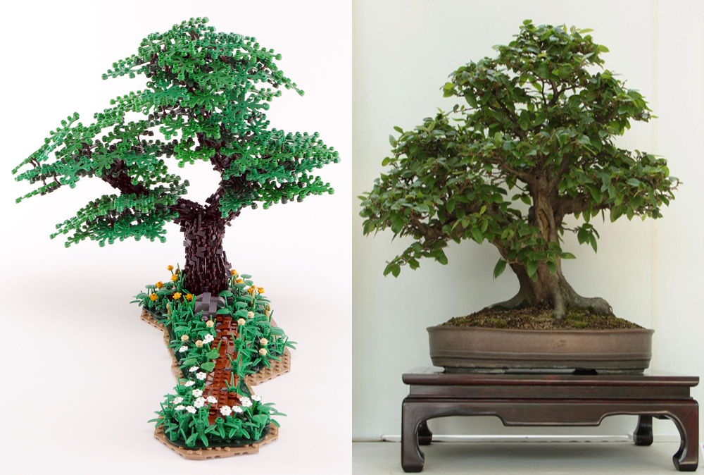 Lego Bonsai Tree - Double Trunk Hornbeam