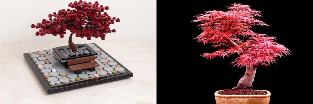 Lego Bonsai Tree - Red Japanese Maple (Acer Palmatum)